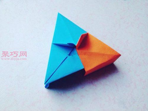 用纸折立体长方形盒子的折法