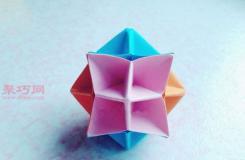 简单立体纸花球的折法图解 DIY折纸花球的做法