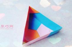 三角形盒子折法图解 如何折纸三角形收纳盒