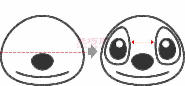畫史迪奇步驟 怎么畫星際寶貝中的史迪奇