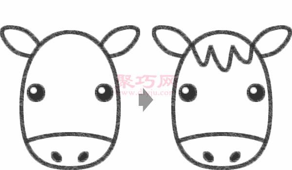 小驢子頭像的畫法步驟
