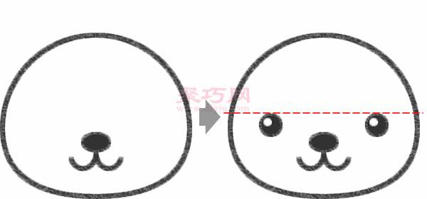 小狗頭像的畫法步驟