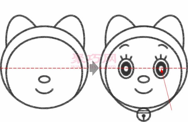 哆啦美的畫法步驟 教你怎么畫哆啦美