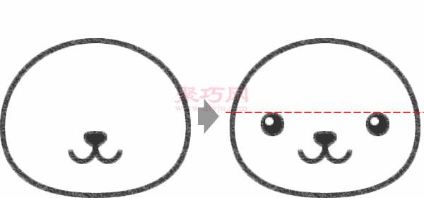 小貓頭像的畫法步驟