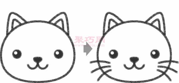 简笔画小猫的画法
