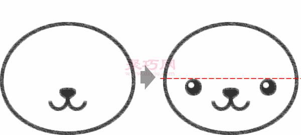 兔子頭像的畫法步驟