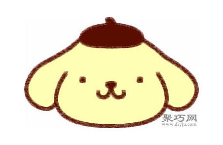 布丁狗的畫法步驟 教你怎么畫布丁狗簡筆畫