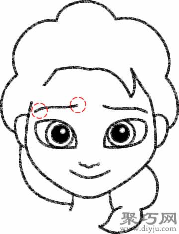 艾莎的画法步骤 教你怎么画艾莎简笔画