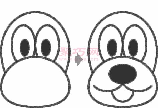 怎么画布鲁托狗简笔画