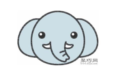 大象的畫法步驟 教你怎么畫大象簡筆畫