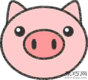 小猪头的画法步骤 教你怎么画小猪头简笔画