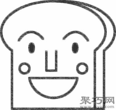 吐司面包超人的画法步骤 怎么画面包超人简笔画