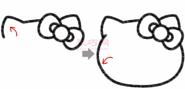Hello Kitty凱蒂貓的畫法步驟
