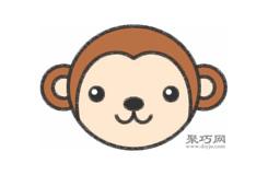 小猴子頭像的畫法步驟 怎么畫小猴子頭像簡筆畫