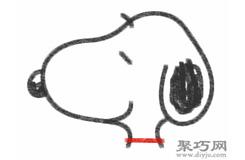 史努比的畫法步驟 教你怎么畫史努比簡筆畫