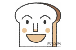 吐司面包超人的畫法步驟 怎么畫面包超人簡筆畫
