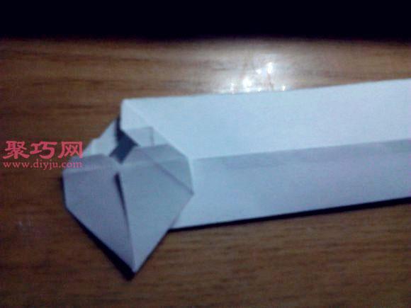 帶翅膀惡魔之心折紙圖解教程