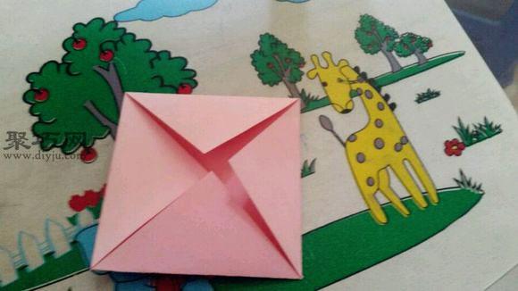莲花座的折法图解展示