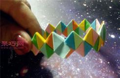 折纸手镯图解教程 手镯的折法教你如何折手镯
