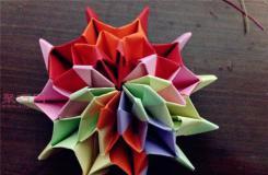 煙花無限翻折紙教程圖解 如何折紙立體無限翻