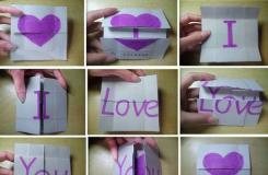 I LoveYou表白无限翻折纸教程 怎么折四边无限翻折纸