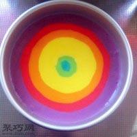 8寸彩虹戚风蛋糕做法大全17