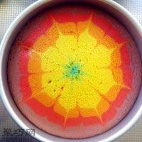 8寸彩虹戚风蛋糕做法大全21