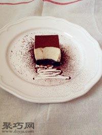 經典黑白雙層巧克力慕斯做法12