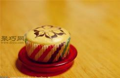 拉花蛋香戚風紙杯蛋糕做法 好吃的戚風蛋糕杯