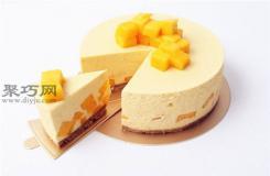六寸芒果慕斯蛋糕做法 不用烤箱做生日蛋糕