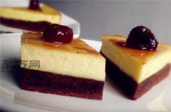 如何做全蛋布朗尼芝士蛋糕 �D解不�_裂八寸布朗尼芝士蛋糕做法