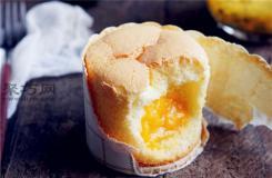 圖解芒果夾心紙杯蛋糕做法步驟