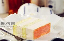 六寸方形三层草莓乳酪慕斯蛋糕做法