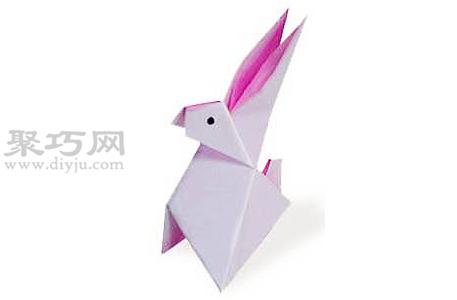 折紙兔子的折法圖解教程 教你怎么折紙兔子
