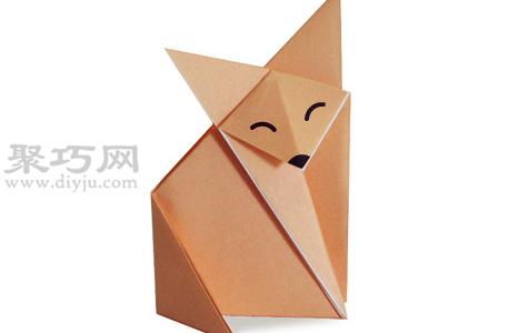 手工折紙狐貍教程 狐貍的折法圖解