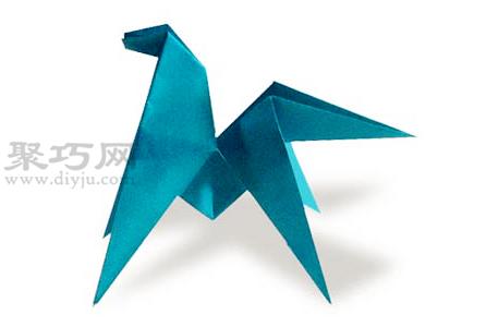 手工折紙馬步驟圖解 折紙馬的折法