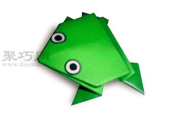 手工折紙會蹦的青蛙步驟圖解 折紙會蹦的青蛙的折法