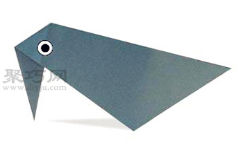 乌鸦的折法图解 教你怎么手工折纸乌鸦