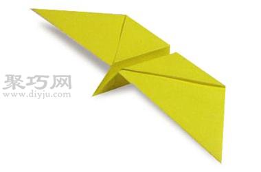 手工折纸蝴蝶教程 会飞的蝴蝶的折法图解图片