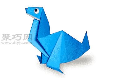 手工折紙海狗教程 海狗的折法圖解