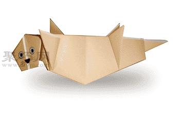 手工折纸海獭步骤图解 折纸海獭的折法