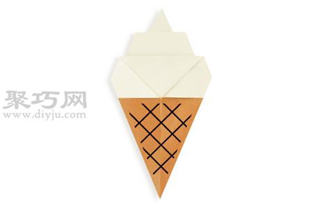 手工折纸冰激凌步骤图解 折纸冰激凌的折法
