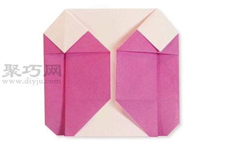 手工折纸羽绒服教程 羽绒服的折法图解