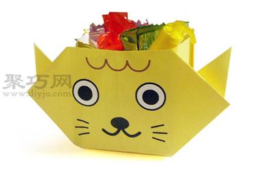 小猫糖果盒折纸教程图解