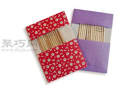 手工折紙牙簽袋教程 牙簽袋的折法圖解
