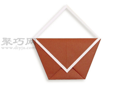 手工折紙手提包教程 手提包的折法圖解