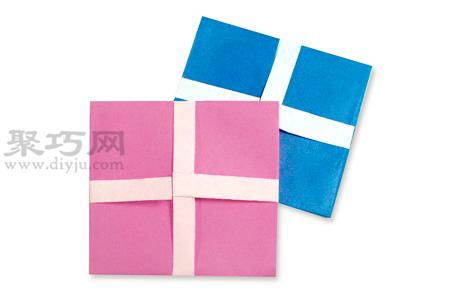 手工折纸方信封教程 方信封的折法图解