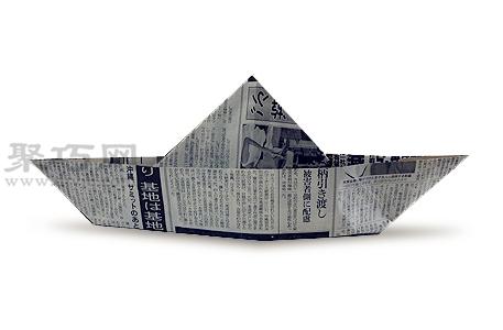 报纸折墨西哥帽教程图解