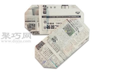 手工折紙拖鞋步驟圖解 報紙折紙拖鞋的折法