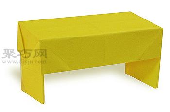 手工折紙書桌步驟圖解 DIY折紙書桌的折法